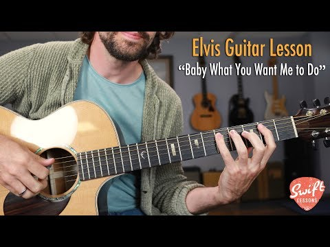 """elvis-""""baby-what-you-want-me-to-do""""---easy-blues-guitar-songs-lesson"""