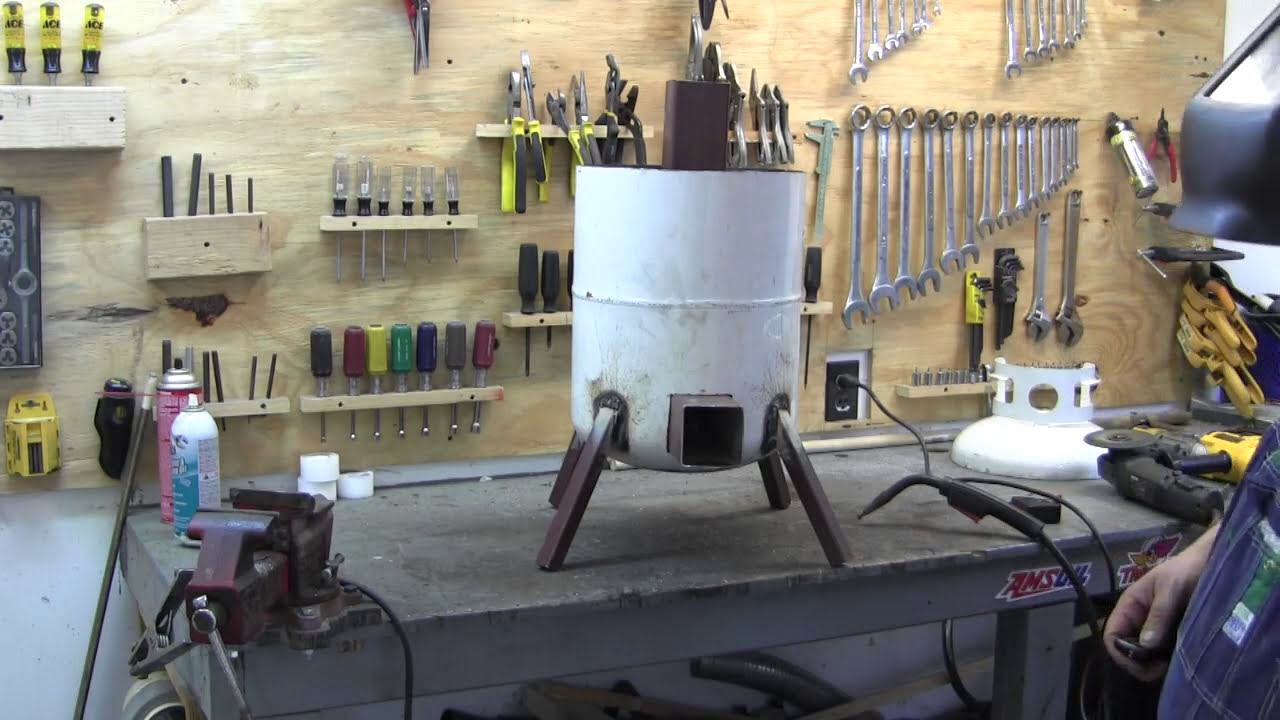 How to build a propane tank rocket stove 2/3 - YouTube
