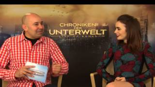 Lily Collins Interview - City of Bones - City of Ashes