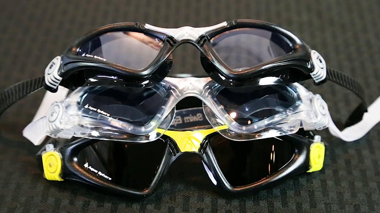 11724447b203 Aqua Sphere Kayenne Swim Goggles Overview - YouTube