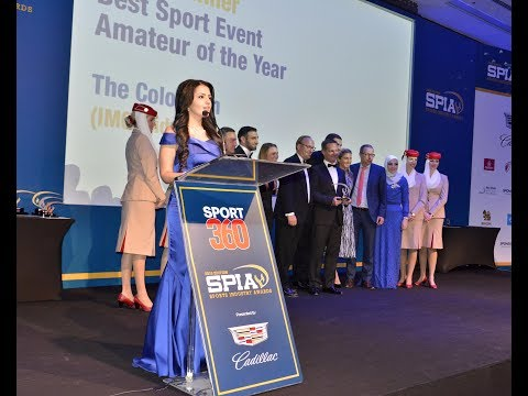 Rania Ali Arabic & English Presenter MC Speaker - The Sports Industry Awards 2016 in Dubai, UAE
