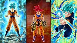 Dokkan Battle Teq VB + SRs vs AGL GOKU!