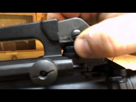 How to use and zero an A2 rear sight.