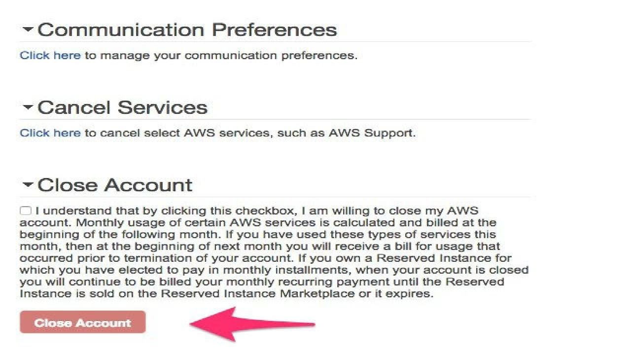 How to Delete an AWS Account