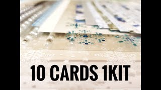 10 Cards 1 kit Crafty Ola Store Card kit of the Month December 39 18 39 39 Winter Wonderland 39 39