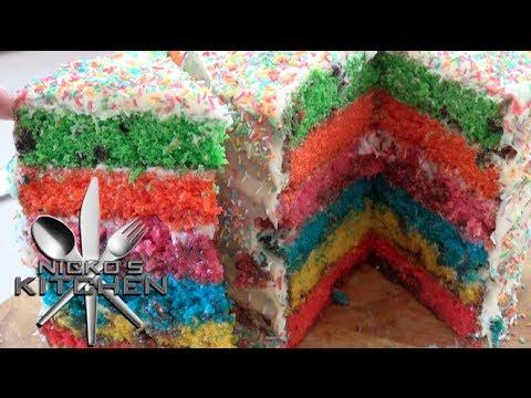 HOW TO MAKE RAINBOW CANDY CAKE