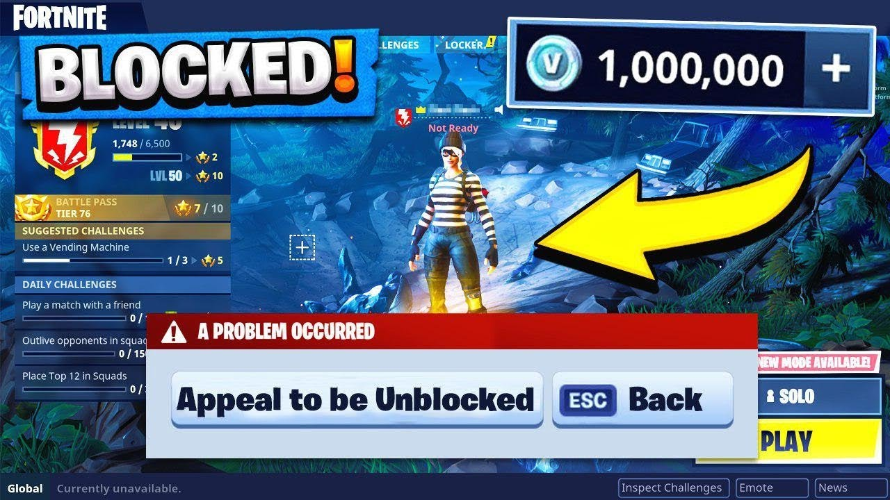 Epic Games Blocked My Fortnite Account Youtube