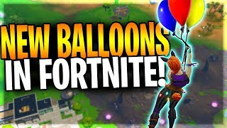 FORTNITE FINALLY BRINGS BALLOONS TO THE GAME! (Worst Item In The Game?)