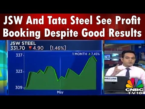 JSW And Tata Steel See Profit Booking Despite Good Results | Chartbusters | CNBC TV18