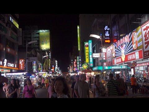 [Walking tour 漫步遊] Liuhe night market Kaohsiung Taiwan 台灣 高雄 六合夜市