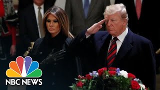 President Donald Trump And First Lady Melania Trump Pay Respects To George H.W. Bush | NBC News