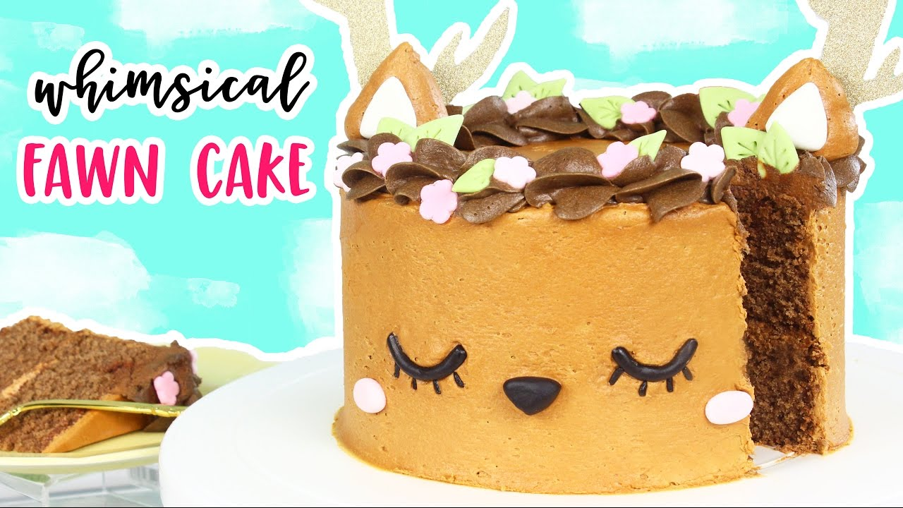 How To Make A Whimsical Deer Cake