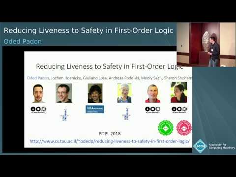 Reducing Liveness to Safety in First Order Logic