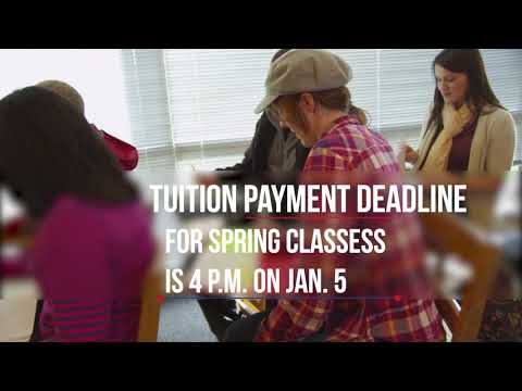 Tuition Deadline for Spring Classes