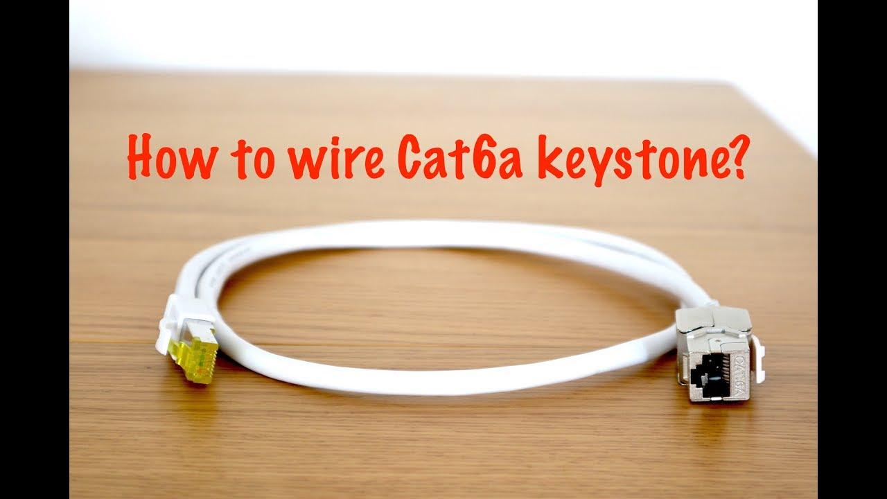 how to wire cat6a keystone jack [ 1280 x 720 Pixel ]
