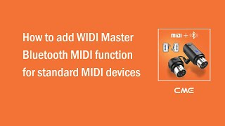 How to add WIDI Master Bluetooth MIDI function for standard MIDI devices