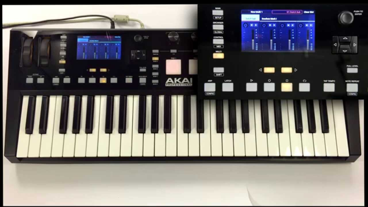 akai pro advance keyboards using with native instruments komplete youtube. Black Bedroom Furniture Sets. Home Design Ideas