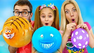 Sasha and Dima play balloons in the form of animals