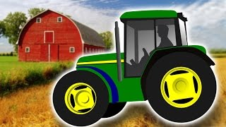 Farm Tractors Working Compilation for Kids – Learn Farm Machinery and Vehicles