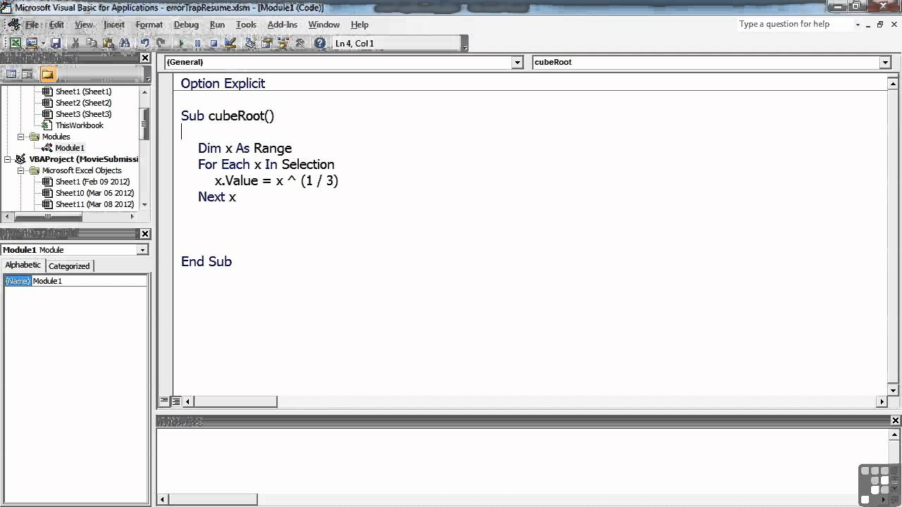 Visual Basic For Excel Tutorial Vba Ignore Errors