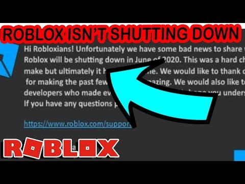 Roblox Is Down 2019 March Roblox Is Not Shutting Down Youtube