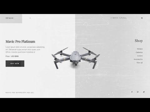 Speed Code - Product Landing Page Design   HTML, CSS & JavaScript (GREENSOCK)