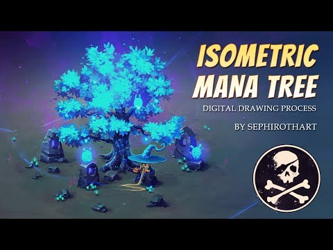 Isometric Mana Tree ○ Gumroad Tutorial Pack - YT