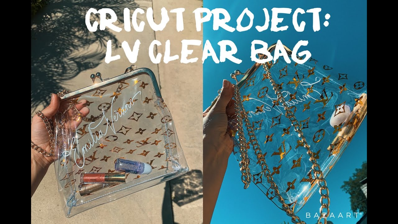 Cricut Project Louis Vuitton Clear Bag Decal Youtube