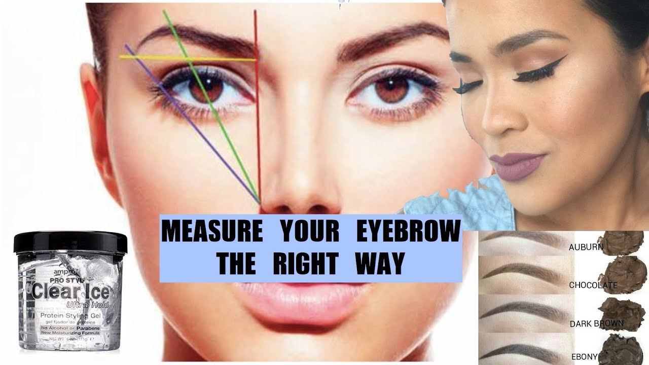 how to perfect eyebrow measuring youtube