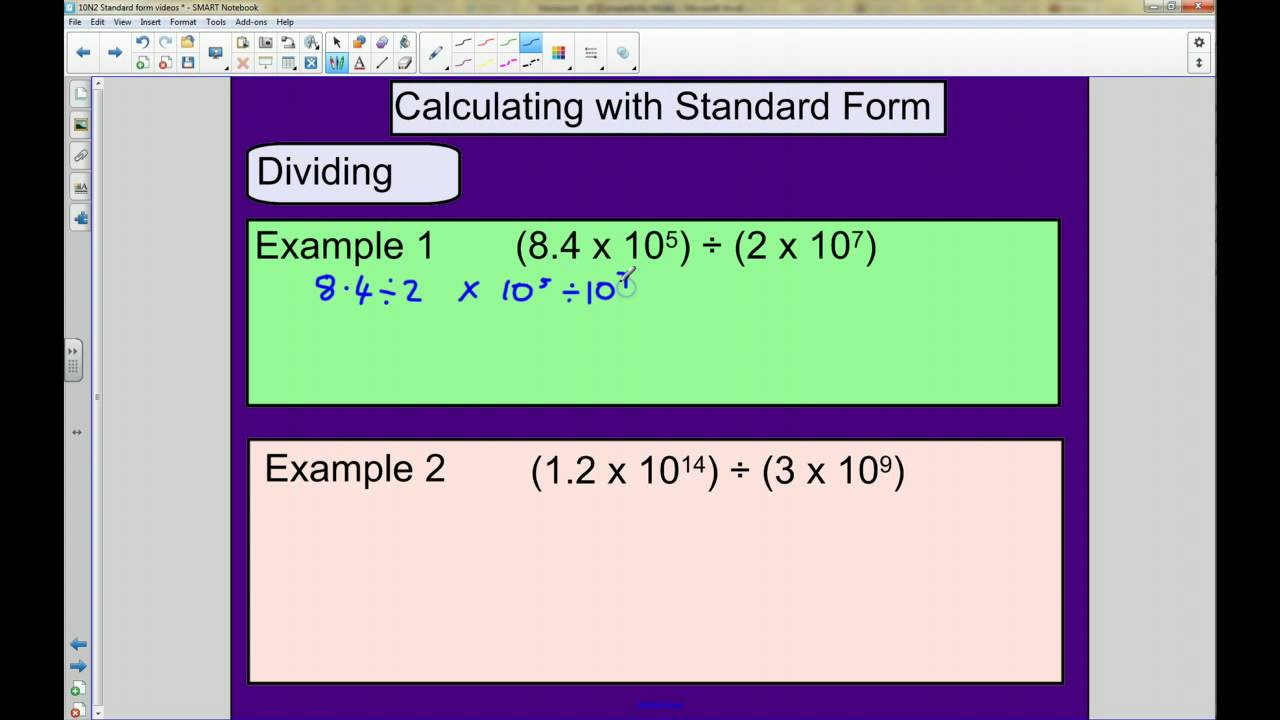 Standard form multiplying and dividing youtube falaconquin