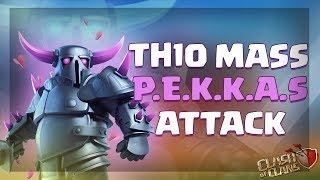 ATAQUE MASIVO DE PEKKAS EN TH10 | Ataques 3 Estrellas | Clash of Clans |