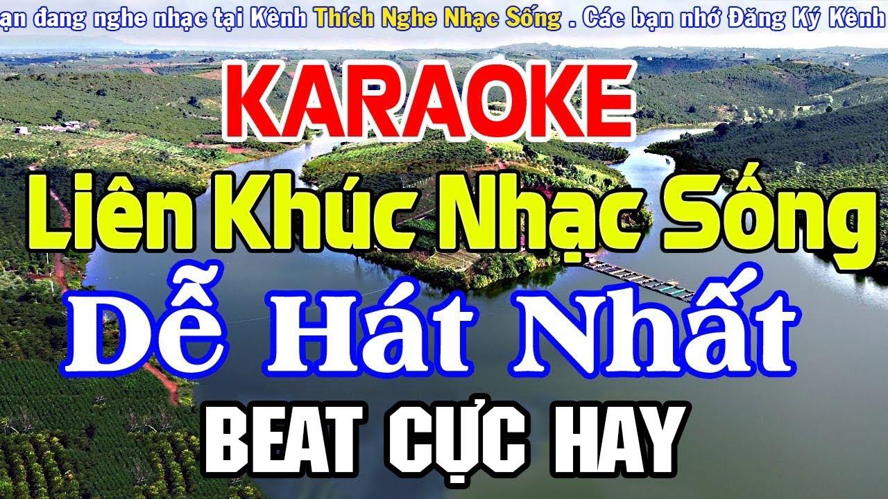 KARAOKE Liên Khúc Nhạc Sống DỄ HÁT NHẤT - Nhạc Sống Cha Cha Cha Karaoke Mới Nhất Cực Hay