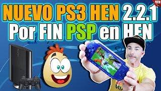 Nuevo HEN 2.2.1 PS3 - POR FIN JUEGOS DE PSP en tu PS3 con HEN!!! Tutorial FACIL