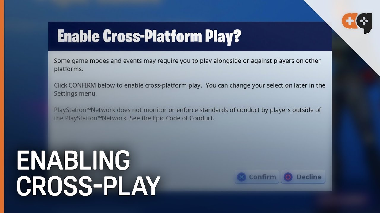 Fortnite: Enabling The New Cross-Play Default (PS4 / Xbox ...