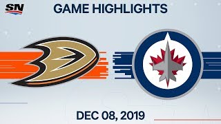 NHL Highlights | Ducks vs. Jets - Dec. 8, 2019