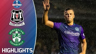 Elgin City 0-2 Hibernian | Hibs Ease Through to Last 16 | Betfred Cup Extended Highlights | SPFL