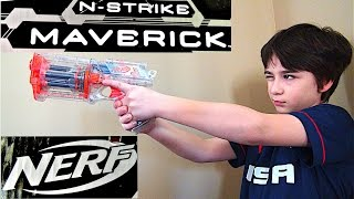 Nerf N-Strike Clear Green Transparent Maverick REV-6 Revolver Dart Gun Blaster