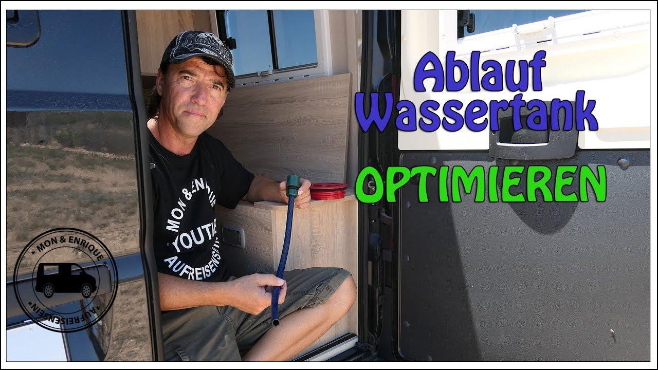 Ablauf Wassertank Wohnmobil optimieren - Technik und Tipps