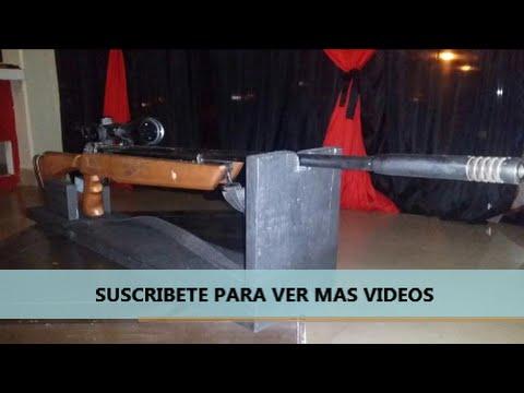 Como hacer un soporte para tu rifle muy facil youtube - Como hacer soporte para cuchillos ...