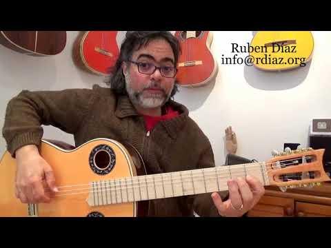Learn Paco de Lucia´s modal (major scale) 6 fingerings /Flamenco guitar technique lesson Ruben Diaz