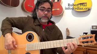Learn Paco de Lucia´s modal (major scale) 6 fingerings /Flamenco guitar technique lesson Ruben Diaz