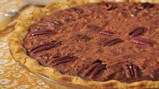Chocolate Pecan Pie Recipe Demonstration - Joyofbaking.com