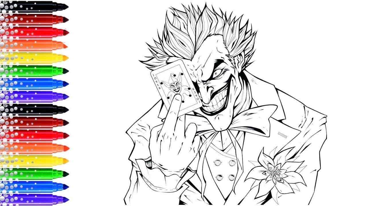 Pro Coloriage Du Joker Youtube