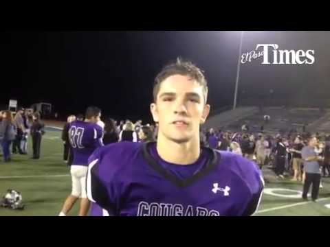Franklin football player Gustavo Dorsett talks after the Cougars win over Montwood on Friday