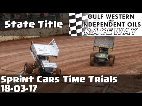 Sprint Cars State Title Time Trials - Latrobe Speedway 18-03-17