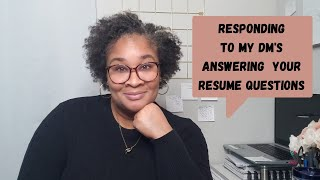 Q&A Resume Edition