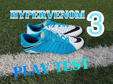 13f855a10bf6 Nike Hypervenom Phantom 3 Blue white Play test - YouTube