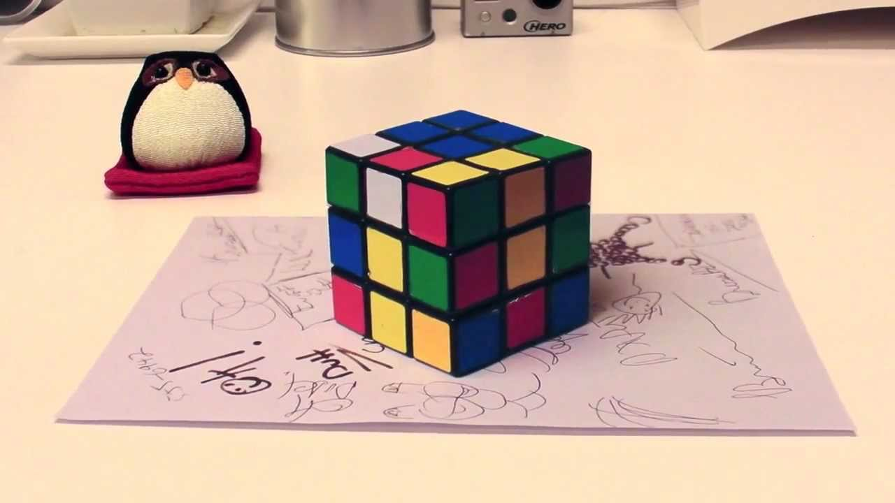 photo regarding Anamorphic Illusions Printable identified as Anamorphic Illusion - Rubiks dice ver.