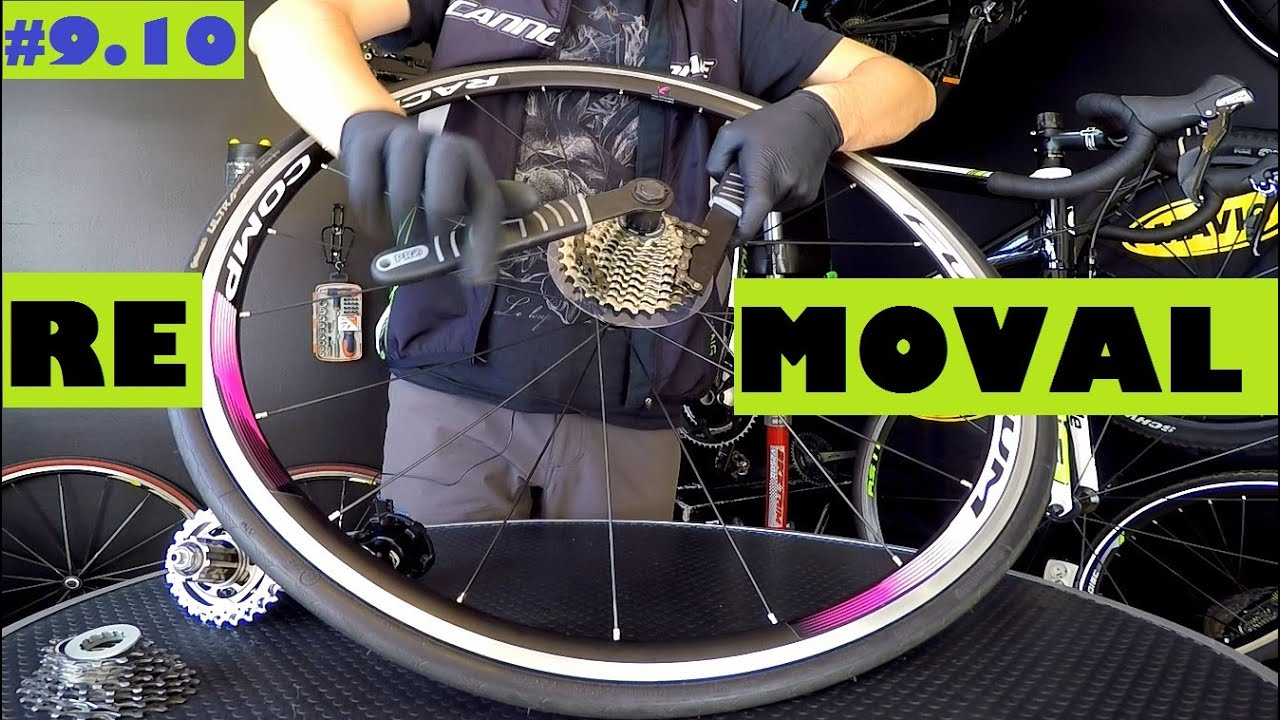 How To Remove Install Cassette From A Bike Wheel Shimano Sram