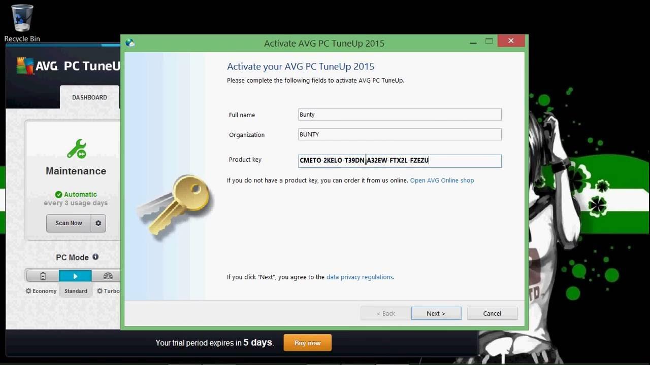 avg pc tuneup 2019 product key free